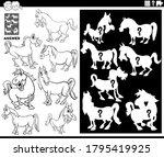 black and white cartoon... | Shutterstock .eps vector #1795419925