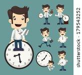 adult,backward,business,businessman,cartoon,character,clock,clockwise,communication,control,corporate,deadline,design,emotion,employment