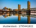 Tower Bridge In Sacramento At...