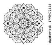 circular flower mandala with...   Shutterstock .eps vector #1795473838