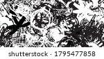 grunge black and white....   Shutterstock .eps vector #1795477858