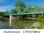 Truss Bridge Over The Wabash...