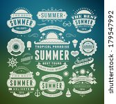 summer design elements and... | Shutterstock .eps vector #179547992