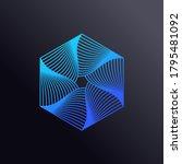 colored swirling lines hexagon...   Shutterstock .eps vector #1795481092