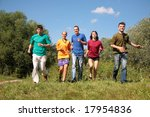 group of five friends in... | Shutterstock . vector #17954836