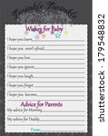 baby shower wish and advice...   Shutterstock .eps vector #179548832