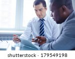 image of two young businessmen... | Shutterstock . vector #179549198