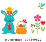 easter rabbit  chicken and