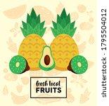 fresh local fruits lettering...   Shutterstock .eps vector #1795504012