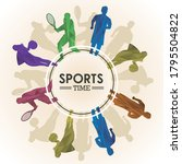 sports time poster with...   Shutterstock .eps vector #1795504822
