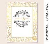 vintage delicate greeting...   Shutterstock .eps vector #1795505422