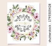 vintage delicate greeting...   Shutterstock .eps vector #1795505428
