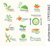 vector icons of organic natural ... | Shutterstock .eps vector #179551862
