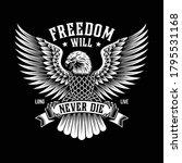 american eagle emblem on black | Shutterstock .eps vector #1795531168