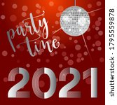 2021 red and silver invitation... | Shutterstock .eps vector #1795559878