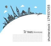 travel and tourism background | Shutterstock .eps vector #179557355