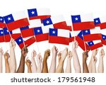 diverse hands holding flags of... | Shutterstock . vector #179561948