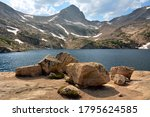 Picturesque Blue Lake And Mount ...
