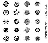 set of flower shape vector | Shutterstock .eps vector #179563466