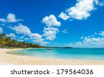 beautiful bay in mauritius... | Shutterstock . vector #179564036