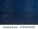 Blue Crocodile Leather Skin...