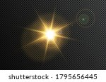 yellow glowing light explodes... | Shutterstock .eps vector #1795656445