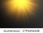 yellow glowing light explodes... | Shutterstock .eps vector #1795656448