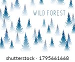 forest background with... | Shutterstock .eps vector #1795661668