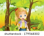 illustration of a young girl... | Shutterstock . vector #179568302