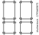 irish celtic vector frames set... | Shutterstock .eps vector #1795685875