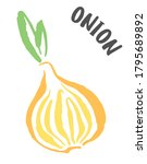 onion drawing hand painted with ...