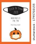 trick or treat halloween...   Shutterstock .eps vector #1795703155