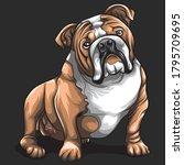 Bulldog Cute Concept Cartoon...