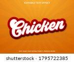chicken text effect template... | Shutterstock .eps vector #1795722385