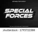 special forces text effect... | Shutterstock .eps vector #1795722388
