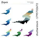 Set Of Vector Maps Of Bequia....