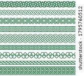 celtic vector seamless border... | Shutterstock .eps vector #1795760512