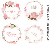 floral frame collection. set of ... | Shutterstock .eps vector #179578676