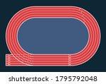 running track  top view of... | Shutterstock .eps vector #1795792048