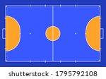field for futsal. orange... | Shutterstock .eps vector #1795792108