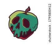 snow white poisonous apple... | Shutterstock .eps vector #1795800412