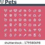Stock vector vector pets icon set 179580698