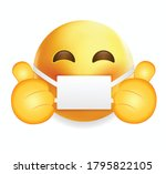 high quality emoticon on white... | Shutterstock .eps vector #1795822105