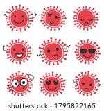 cartoon coronavirus characters...   Shutterstock .eps vector #1795822165