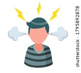 stress. bad emotion. angry man. ... | Shutterstock .eps vector #1795892878