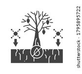 soil pollution black glyph icon....