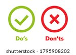 do's and don'ts icon. vector... | Shutterstock .eps vector #1795908202