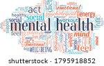 mental health word cloud... | Shutterstock .eps vector #1795918852