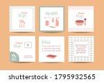 food recipe social media post....   Shutterstock .eps vector #1795932565