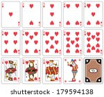playing cards heart suit  joker ... | Shutterstock .eps vector #179594138